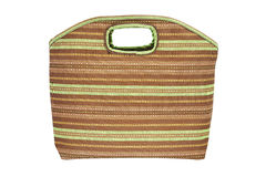 Stripe cloth handbag Royalty Free Stock Photography