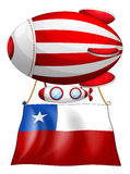 A stripe-colored balloon with the flag of Chile Stock Photos
