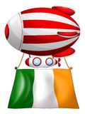 A stripe-colored balloon with the flag of Ireland Royalty Free Stock Images