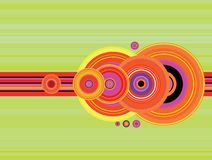 Stripe crop circle flip. An abstract look a crop circles with a modern slant stock illustration