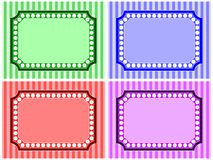 Stripe and Dot Frame Set Royalty Free Stock Images