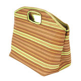 Stripe fabric handbag Stock Photography