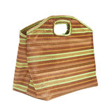 Stripe fabric handbag Stock Image