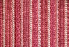 Stripe fabric texture red and white colors Stock Photos