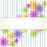 Stripe floral background with copy space Royalty Free Stock Image