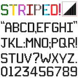 Stripe Font Stock Photography