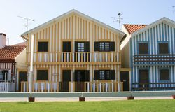 Stripe Houses. Some unique stripe houses in Aveiro, Portugal Stock Photography