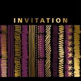 Stripe invitation template Royalty Free Stock Photo