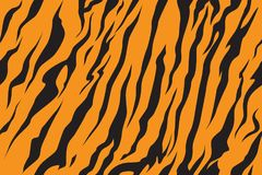 Stripe jungle tiger fur texture pattern repeating orange yellow black. Stripe animals jungle tiger fur texture pattern seamless repeating orange yellow black royalty free illustration