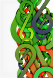Stripe knot abstract background Royalty Free Stock Image