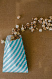 Stripe Package of Chocolate Popcorn Movie Concept Royalty Free Stock Photos