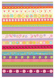 Stripe pattern vector wallpaper. Decorative stripe pattern vector wallpaper. editable illustration Stock Image