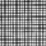 Stripe plaid watercolor seamless pattern. Watercolor black white stripe plaid gingham seamless pattern background. Watercolour hand drawn striped textured royalty free illustration