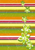 Stripe retro grunge background. Vector illustration Stock Photography
