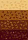 Stripe retro grunge background with coffee beans Stock Photography