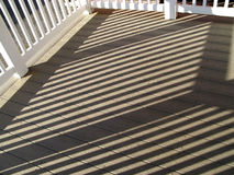Stripe Shaded Deck Royalty Free Stock Photos