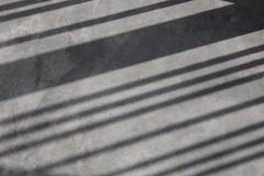Stripe shadow on wall. Royalty Free Stock Images
