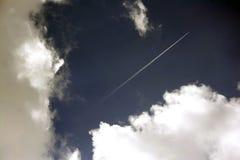 Stripe in sky. A plane stripe in the sky Stock Image
