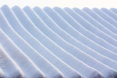 Stripe of Snow pattern Royalty Free Stock Photo