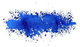 Stripe of spilt blue paint. Grunge abstract background - raster illustration stock illustration