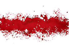 Stripe of spilt red paint. Grunge abstract background - raster illustration vector illustration