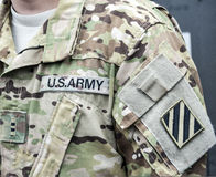 Stripe with a velcro the 3rd Infantry Division Royalty Free Stock Photo