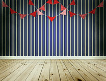 Stripe wallpaper background with pennants festoon Royalty Free Stock Photos