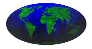 Stripe world globe 1 Royalty Free Stock Photography