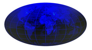 Stripe world globe 2.jpg Royalty Free Stock Image