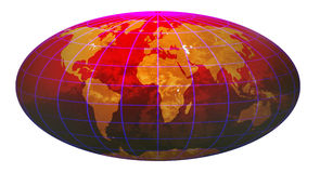 Stripe world globe 4.jpg Royalty Free Stock Images