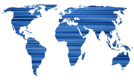 Stripe world map Stock Photo