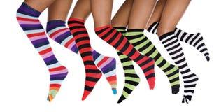 striped бежать ног Стоковые Изображения RF