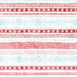striped безшовное картины Этнические и племенные мотивы Винтажная печать, текстура grunge Простой орнамент handmade Белизна, пинк бесплатная иллюстрация