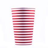 Striped бумажный стаканчик Стоковое Фото