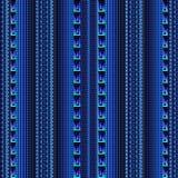 Striped винтажная безшовная картина границ Сделанные по образцу линии шнурка, бесплатная иллюстрация
