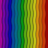 Striped волной предпосылка цвета радуги Стоковое Фото