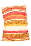 Striped вышитая подушка Стоковая Фотография