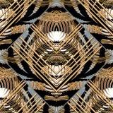 Striped геометрическая абстрактная безшовная картина бесплатная иллюстрация
