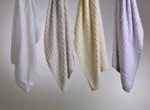 striped желтый цвет towe лиловый белый Стоковое фото RF