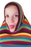 striped женщина свитера Стоковое фото RF