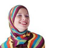 striped женщина свитера Стоковое Изображение