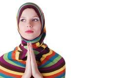 striped женщина свитера Стоковые Изображения