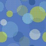 Striped картина кругов безшовная Стоковые Фотографии RF