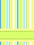 striped карточка Стоковые Изображения RF