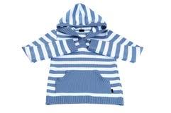 striped клобуком белизна свитера стоковые изображения
