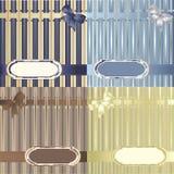 striped комплект предпосылок декоративный Стоковое Изображение