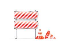 striped конусы барьера бесплатная иллюстрация
