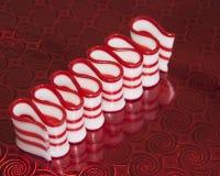 Striped конфета тесемки пипермента Стоковые Фото