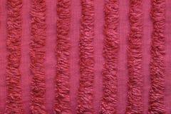 Striped красная деталь одеяла Стоковая Фотография