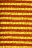 striped красный цвет золота ткани Стоковая Фотография